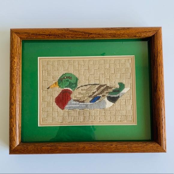 Mallard Duck Crewel Embroidery